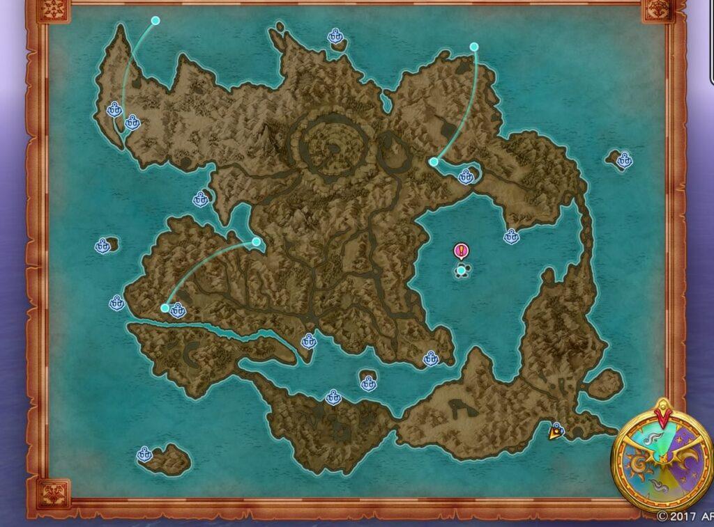 ドラクエ11 各小島:ボウガンの的の場所